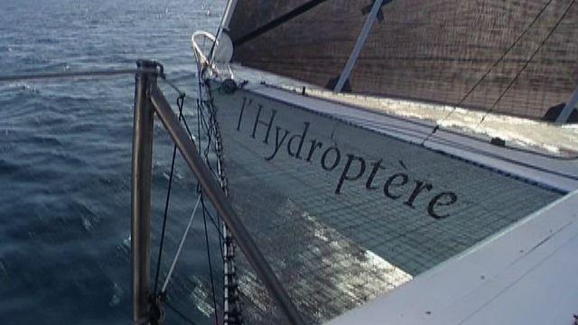 Vorschaubild zu Geschwindigkeitsrekord unter Segel – Hydroptère