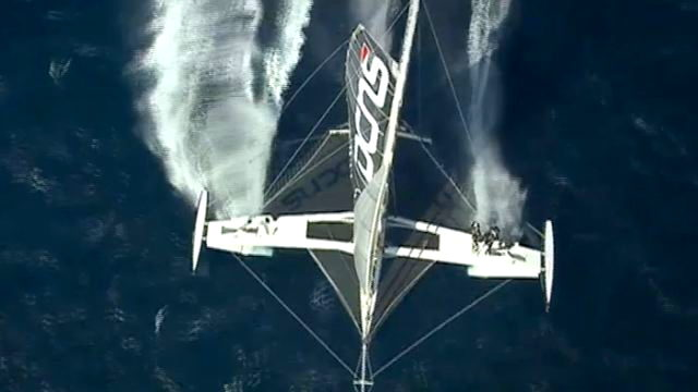 Vorschaubild zu Hydroptère – Der erste Offshore Rekordversuch steht an