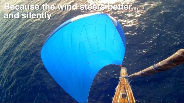 Vorschaubild zu Windpilot, das Synonym für mechanische Windsteueranlagen